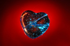image: cracked heart